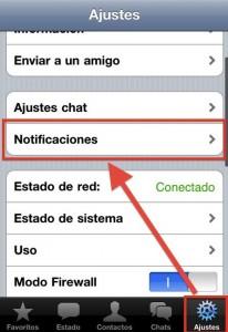 Ajustes del WhatsApp en iPhone