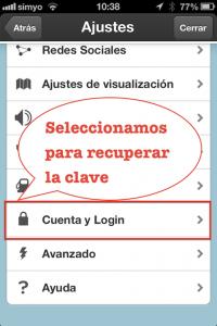 Paso 2 Seleccionar la opcion de la cuenta de usuario