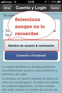 Paso 3 Elije el acceso con tu cuenta de usuario