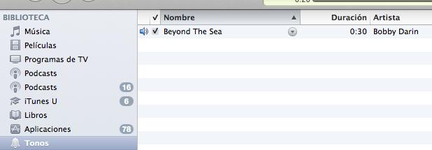 Tonos de llamadas en el iTunes
