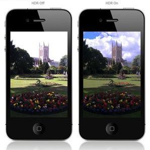 Visión imagenes sin y con HDR en iphone