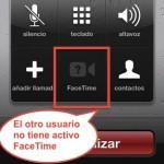 detalles de una llamada sin FaceTime